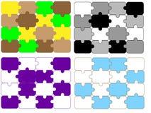 Unterschiedliche Auslegung des Puzzlespielhintergrundes Lizenzfreies Stockfoto