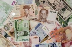 Unterschiedliche Banknotenwährung Stockfotos