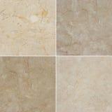 Unterschiedliche Beschaffenheit vier eines hellen und dunklen Marmors (Hoch res etwas körniges) Stockbilder