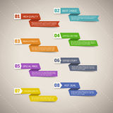 Unterschiedliche Design-Band-Sammlung Stockfoto