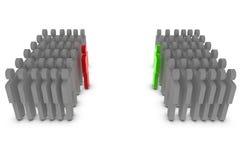 Unterschiedliche Führung vektor abbildung