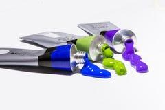 Unterschiedliche Farbacrylfarben Lizenzfreies Stockbild