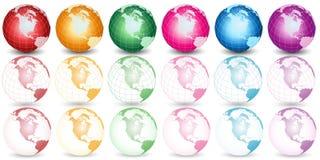 Unterschiedliche Farbenerdeabbildung Lizenzfreie Stockfotos