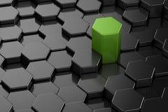 Unterschiedliche Form des Hexagons 3d Lizenzfreies Stockfoto