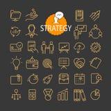 Unterschiedliche Geschäftsstrategie-Ikonenvektorsammlung vektor abbildung