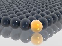 Unterschiedliche Goldkugel vektor abbildung