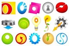 Unterschiedliche Ikone mit Alphabet O Stockfoto