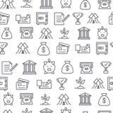 Unterschiedliche Linie Artikonen nahtloses Muster, Bank Stockbilder