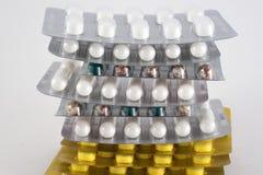 Unterschiedliche Medizin Tablets, Pillen in der Blisterpackung medikationen Stockfotografie