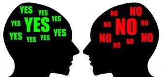 Unterschiedliche Meinung Stockfotos