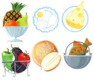 Unterschiedliche Nahrung Lizenzfreies Stockfoto