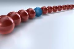Unterschiedliche rote Kugel stock abbildung