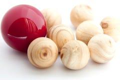 Unterschiedliche rote Kugel. Lizenzfreies Stockfoto
