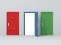 Unterschiedliche Tür drei Stockfoto