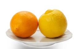 Unterschiedliche Zitrone zwei Stockfoto