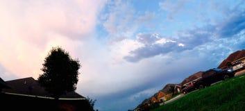 Unterschiedlichen Himmels Stockfotografie