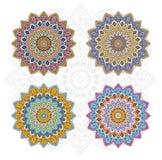 Unterschiedlicher Farbsatz der Mandala Stockfotos