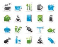 Unterschiedlicher König von Lebensmittel- und Getränkikonen 1 Lizenzfreie Stockbilder