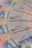Unterschiedlicher Rumäne Lei Banknotes lizenzfreie stockbilder