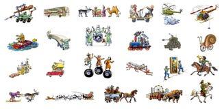Unterschiedlicher Transport Stockbild