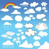 Unterschiedlicher Typ der Wolken Stockbilder