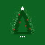 Unterschiedlicher Weihnachtsbaum mit Schnee Stockbild