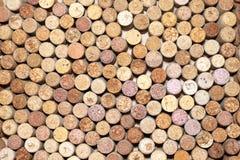 Unterschiedlicher Wein bekorkt Beschaffenheit stockbilder