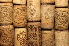 Unterschiedlicher Wein bekorkt Beschaffenheit lizenzfreie stockfotos