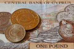 Unterschiedliches altes Geld von Zypern Stockbilder