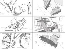 Unterschiedliches Bein bewegt Storyboards Lizenzfreie Stockfotos
