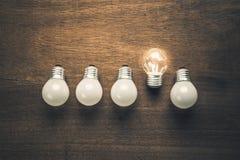 Unterschiedliches Birnen-Glühen Lizenzfreie Stockfotos