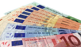 Unterschiedliches buntes Eurogetrennt, Sparungsreichtum Lizenzfreies Stockfoto