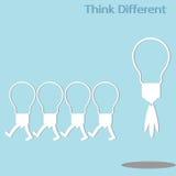 Unterschiedliches Denken Lizenzfreie Stockfotografie