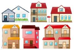 Unterschiedliches Design von Häusern Stockbild