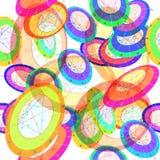 Unterschiedliches farbiges Geburts- astrologisches Diagramm des nahtlosen Musters Stockfotografie
