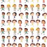 Unterschiedliches Gefühl von Kindern Stockfotos