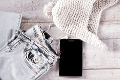Unterschiedliches Gegenstände fot moder Jugendlicher Lizenzfreie Stockfotos