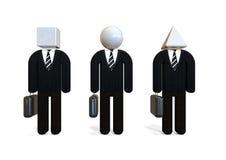 Unterschiedliches Geschäftsmannkonzept Stockbild