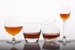 Unterschiedliches Glas Whisky Stockfotos