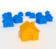 Unterschiedliches Haus Lizenzfreies Stockfoto