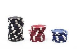 Unterschiedliches Kasino der Farbe vier Lizenzfreie Stockbilder