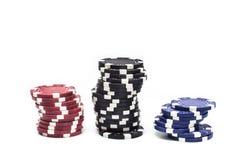 Unterschiedliches Kasino der Farbe vier Stockfoto