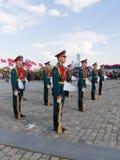 154 unterschiedliches Preobrazhensky Regiment in Victory Park Stockfotografie