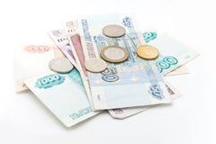 Unterschiedliches russisches Geld Stockfoto