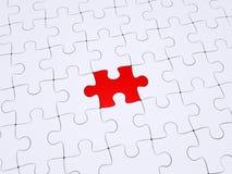 Unterschiedliches Stück des Puzzlespiels Stockfoto