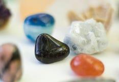 Unterschiedliches Steinmineralsammlungsfoto Stockbilder