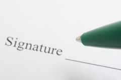 Unterschrift Lizenzfreies Stockbild