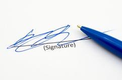 Unterschrift Lizenzfreies Stockfoto