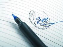 Unterschrift Lizenzfreie Stockbilder