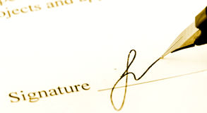 Unterschrift stockfotos
